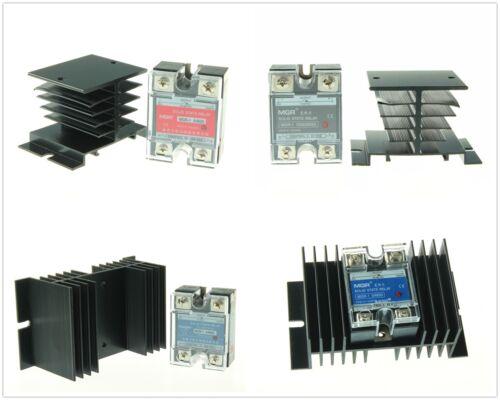 New 10A/25A/40A/50A/60A Solid State Relay SSR DC-AC DC-DC AC-AC w/ Heat Sink