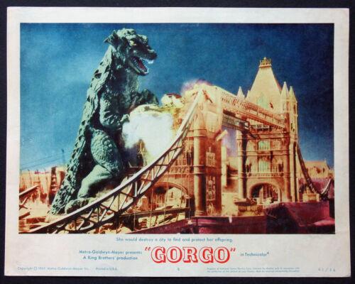 GORGO SEA MONSTER SCIENCE FICTION 1961 BEST LOBBY CARD #5