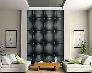 papier peint g ant 2 l s tapisserie murale d co capitonn noir r f 111 ebay. Black Bedroom Furniture Sets. Home Design Ideas