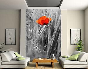Papier peint g ant 2 l s tapisserie murale d co coquelicot r f 154 ebay - Ikea tapisserie murale ...