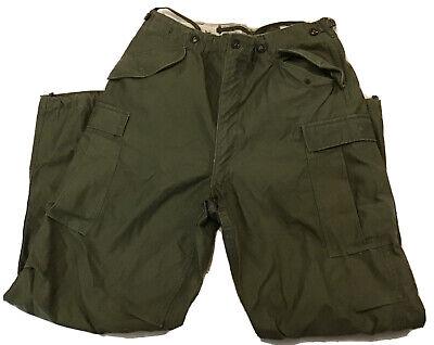 Vintage US Army Marines M-1951 Field Trousers Military Cargo Pants Long Medium