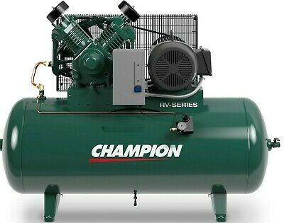 Industrial Air Compressor Hrv10-12 10 Hp 120 Gal 3 Phase Startstop 230 Volt