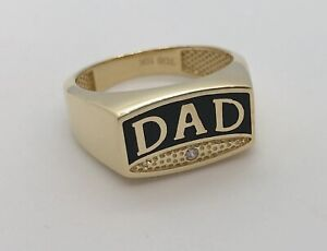 10KT GOLD DAD ring (BRAND NEW)