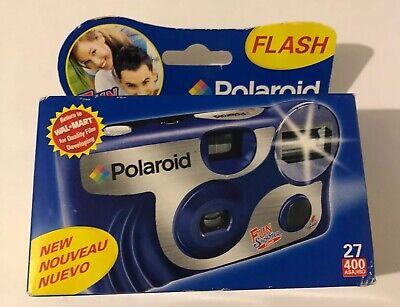 Polaroid Fun Shooter Flash One-Time Use 35mm Camera 400ASA 27 2 Flash Modes NIB Polaroid Fun Flash