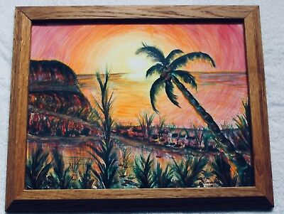 Hawaiian Watercolor/Pen and Ink Palm Sunday By BC Feldmann-Parks, 2009