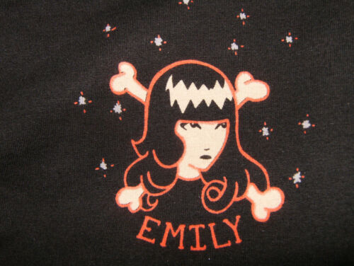 Emily the Strange Small Black Cropped Sweatpants Drawstring Waist ESP 2007 EUC!