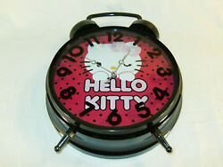 Hello Kitty Twin Bell Pink Jumbo Alarm Clock ~ Wall Hanging or Table Desktop