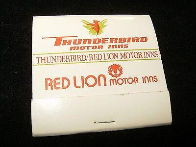 Vtg THUNDERBIRD Motor Inns Advertising Matchbook Book of Matches