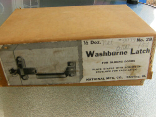 Vintage Antique Barn Door Gate Latch New Old Stock Washburne Latch