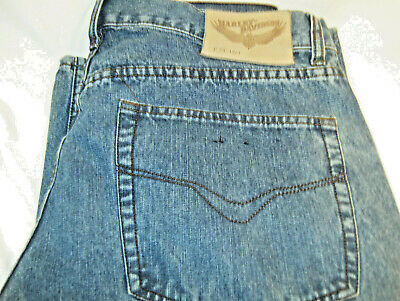 Harley Davidson Mens Denim Jeans Straight Leg Pants sz 36x34