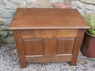 antique coffer, french panelled oak chest, side table, storage, toys, shoe box,