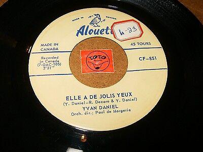 YVAN DANIEL - CHARIOT - ELLE A DE JOLIS YEUX   / LISTEN - TEEN FRENCH POPCORN