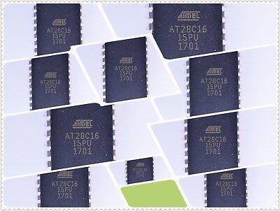 10pcs At28c16-15pu Cmos E2prom Dip-24 Atmel Dip-24 Microcontrollers