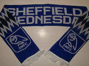 Sheffield-Wednesday-F-C-OWLS-Scarves-Scarf-Retro-NEW