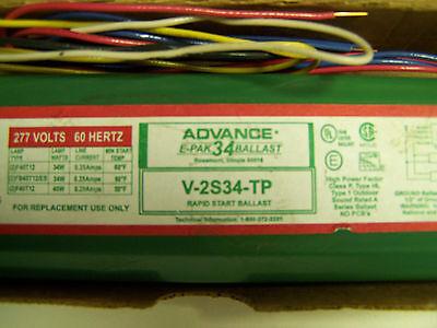 Advance E-pak 34 Ballast V-2s34-tp Rapid Start 277 Volts Yh-303