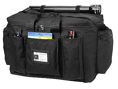 Black Police Equipment Bag - Nylon Law Enforcement Security Gear Pack Bags