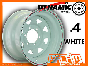 SET-OF-4-WHITE-4X4-DYNAMIC-SUNRAYSIA-WHEELS-16X8-6-139-7-OR-5-5-4WD-RIM-HILUX