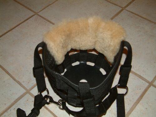 DRAFT size Merino Sheepskin Nose Chin Liner Pad fits Best Friend Grazing Muzzle