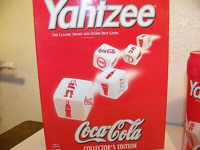 Coca Cola Yahtzee game boxed complete travel container Hasbro collector edition