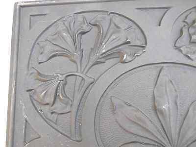 Antike große Guss Verzierung Tafel H 37 cm ab 1900 Jugendstil Blume RAR