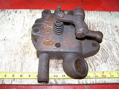 Old Sparta Economy Hit Miss Gas Engine Cylinder Head Magneto Ignitor Oiler Wow