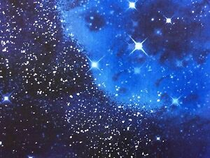 Galaxy fabric ebay for Starry sky fabric