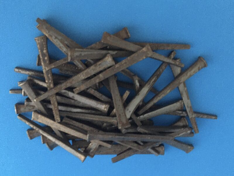 """(55) VINTAGE SQUARE HEAD NAILS 2 1/2"""" LENGTH (New never used) 15.7oz"""