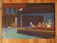 Nighthawks New York Bar Diner Edward Hopper Vintage Poster Repo FREE S//H