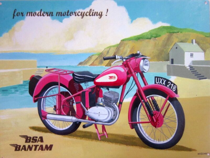 BSA Bantam Motorcycle Metal Sign