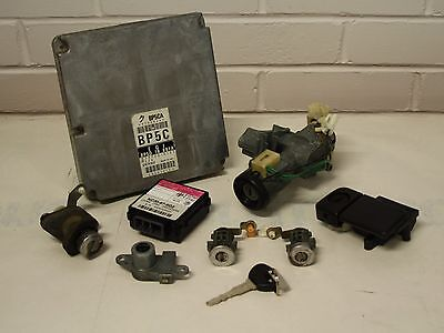 Mazda MX5 - Mk2 (NB) 98-00 - ECU AND LOCK SET - BP5C CODE - ignition door