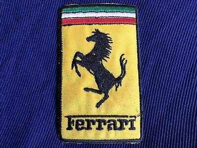Ferrari Emblem Logo - Sew On Badge Patch - New