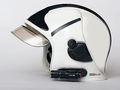 Fire Service Helmet Torch & Bracket to Suit MSA Gallet Torch Mount Bracket