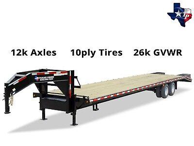 Brand New Texas Pride 8 X 30 255 Deckover Equipment Trailer 26k Gvwr