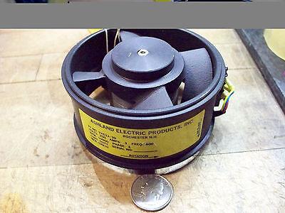 Ashland electric tube axial fan V4S3J-3D 10500 RPM 200 V freq 400 3 1/2