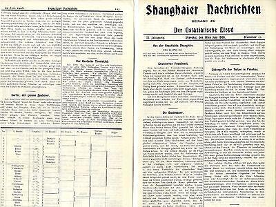 Der deutsche Tennisklub (Spielplan) in: Shanghaier Nachrichten c.1908