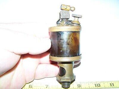 Old Detroit 1 12 Brass Hit Miss Gas Engine Drip Oiler Steam Tractor Magneto