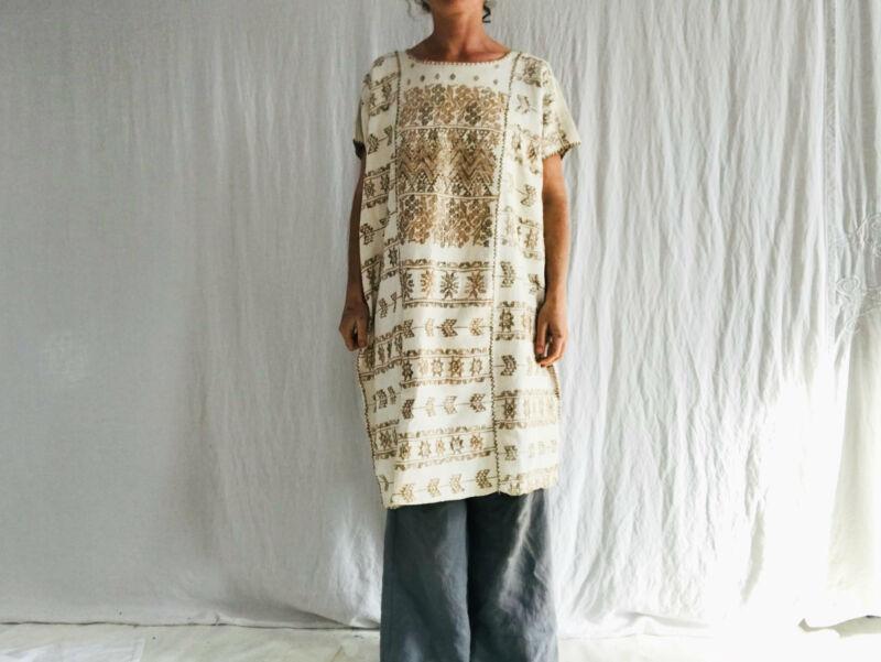 Hand Woven Amuzgo Huipil Dress. Guerrero, Mexico. Rare