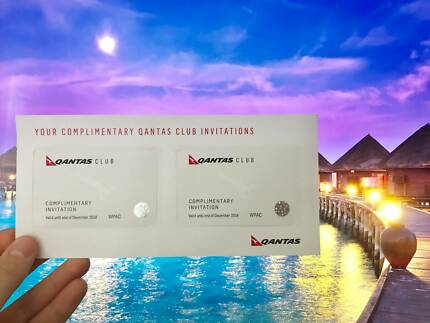 TREAT YOURSELF! 2x Qantas Lounge Passes - Long Dated!