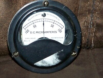 Vintage Roller-smith Dc. Microamperes Sealed Gauge