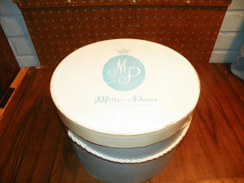"Vintage MILLER & PAINE Department Store 10"" Hat Box - Lincoln, Nebraska        !"