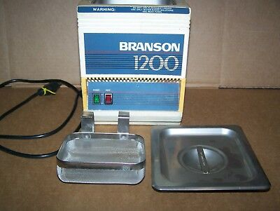 Branson 1200 2 Quart Ultrasonic Cleaner Wheater-stainless Tank And Basket-used