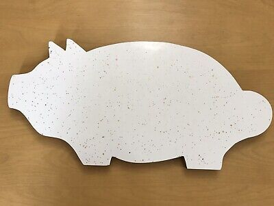 Pig Shaped Cutting Board (Mid-Century Cutting Board Pig Shaped White Gold Specks Formica Top Hand Crafted)