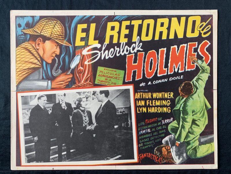 THE TRIUMPH OF SHERLOCK HOLMES Arthur Wontner LOBBY CARD Mexican Rare 1935