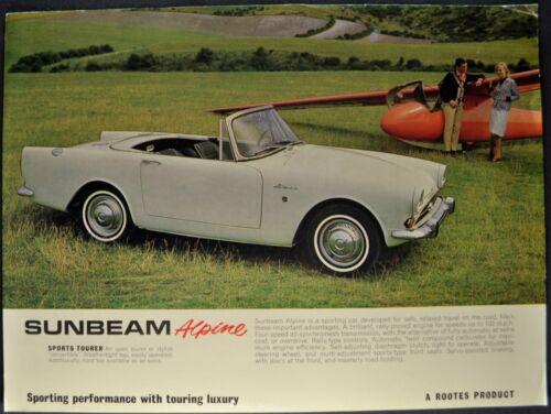 1964-1965 Sunbeam Alpine Sports Tourer Roadster Brochure Sheet Nice Original
