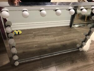 Custom made makeup vanity mirror