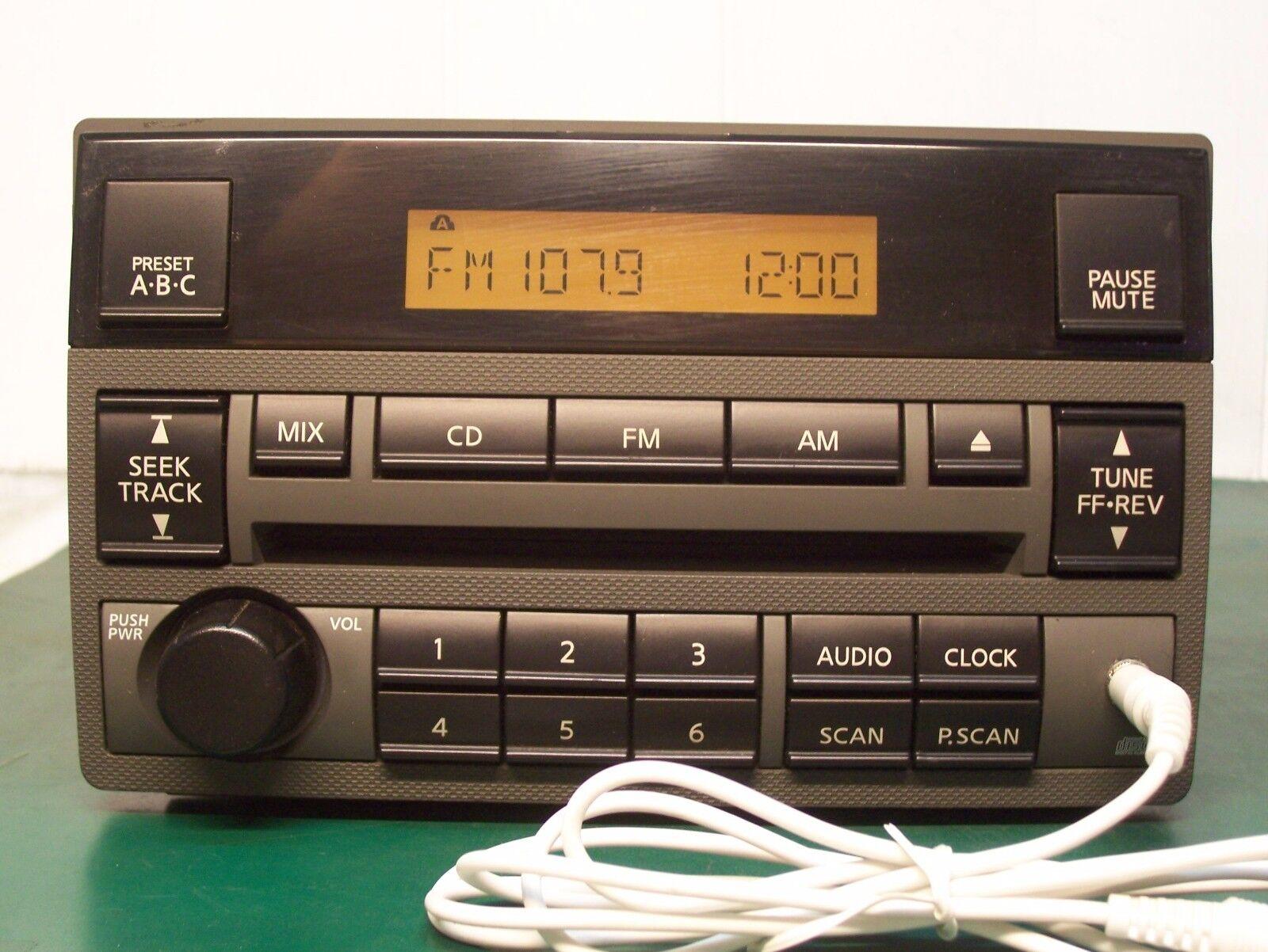 2005-06 NISSAN ALTIMA RADIO CD PLAYER AUX Input 28185-ZB100