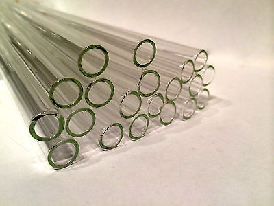 "8"" Clear Glass Blowing Pyrex 5 Pieces 10mm Tubing Tubes 10 mm OD 1mm Thick"