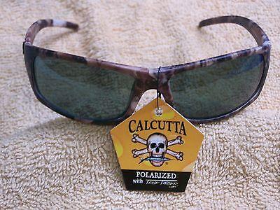 CALCUTTA PROWLER CAMO CAMOFLAGUE FRAME GREY POLARIZED LENS (Camo Calcutta Sunglasses)