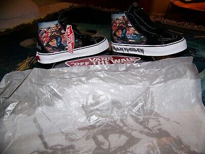 NEW Vintage IRON MAIDEN THE TROOPER Vans Hi-Top SK8 Skate Shoes Men 4 Lady 5.5