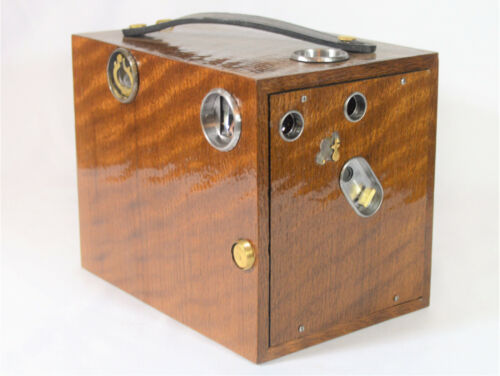 BOX CAMERA 120-YEAR-OLD ANTIQUE ROCHESTER OPTICAL CO. MAGAZINE CYCLONE NO. 5 CM